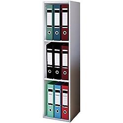 "VCM Aktenregal Bücherregal Regal Standregal Büroregal Ordnerregal Schrank Büro Möbel Weiß 115 x 34 x 29 cm ""Offas"""