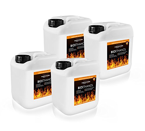 Bio Ethanol 96.6%, 6x 5L-For Alcohol Fireplaces