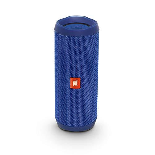JBL Flip 4 Bluetooth Box in Blau (Wasserdichter, tragbarer Lautsprecher mit Freisprechfunktion & Alexa-Integration - Bis zu 12 Stunden Wireless Streaming mit nur einer Akku-Ladung))