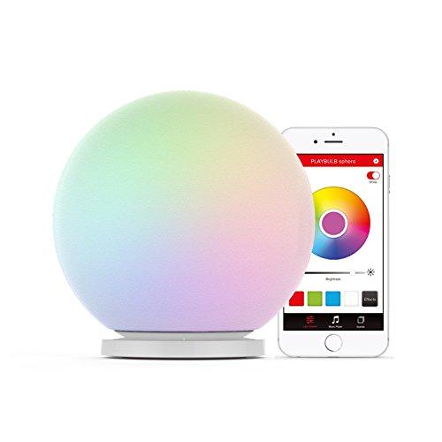 MiPow Playbulb Sphere (app-gesteuerte RGB LED-Leuchtkugel, Lampe, Stimmungslicht, Farbwechsel,...