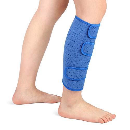 Wadenbandage muskelfaserriss, Kompressions Waden bandage Waden Kompression ohne fuß Neopren Unterschenkelbandage Verstellbar zur Linderung fester Waden, Muskelschmerzen Männer Frauen, Single(Blau)