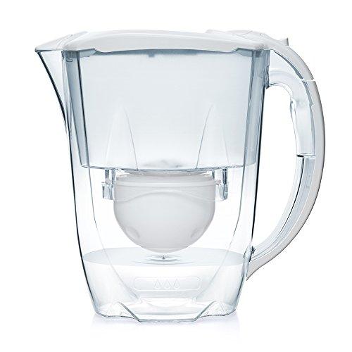 Aqua Optima Oria 2.8L water filter jug with cartridges bundle (white) (10 months of Aqua Optima 60-Day) (5 cartridges)