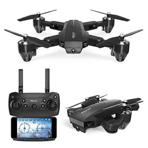 Wekold Drone FPV RC con videocamera HD Video in Diretta WiFi grandangolare Quadricottero con Altitude Hold modalità Senza Testa Flip 3D RTF con Batteria modulare