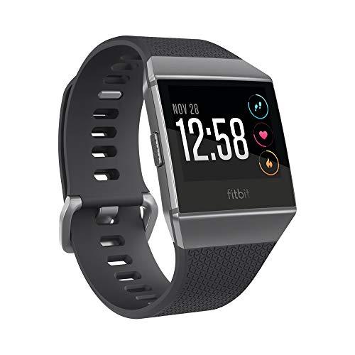 Fitbit Ionic Health & Fitness, Smartwatch Unisex-Adulto, Nero e Grigio Grafite, Taglia Unica