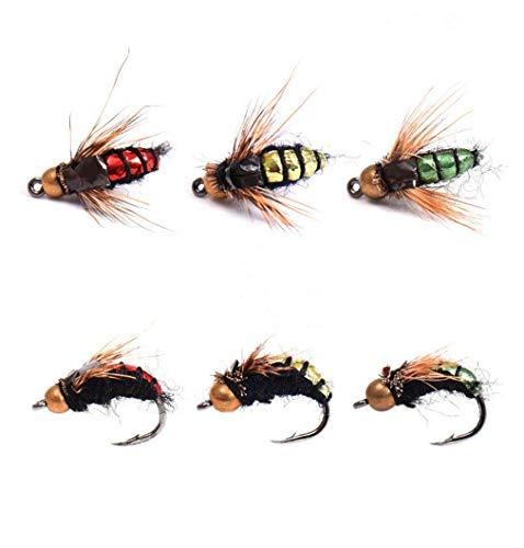 JasCherry 40pcs Esche da Pesca - Pratico Insetti Esca Bionico - Ideale Fishing Lure Bait per Appassionati di pesca