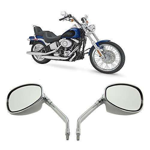 10mm Chrom Motorrad Rückspiegel Seitenstangen Spiegel für Chopper Street Sport Bike 2