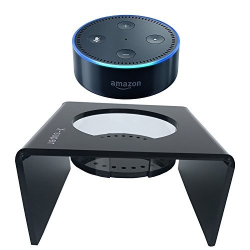 Super-X X-Super Acrylic Speaker Stand for Echo Dot - 2Nd Generation Smart Home Decor Guard Station Alexa - Black