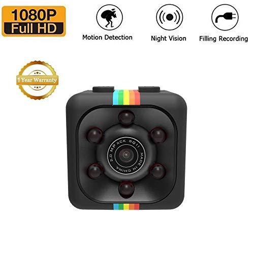 Mini telecamera SQ11 HD,Sansnail con visione notturna e risoluzione 1080p (colore nero)