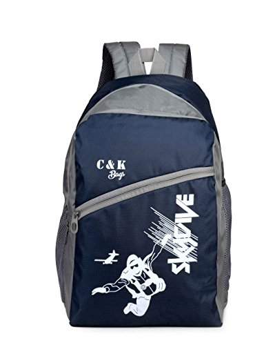 Chris & Kate Polyester 26 LTR Blue School Backpack