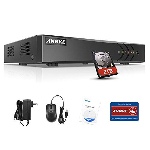 ANNKE TVI 1080P Lite 16 Canali Network Digital Video Recorder Video Sorveglianza Videoregistratore CCTV DVR/HVR/NVR Sicurezza di Sistema Playback 4CH Email Allarme Manuale Italiano 2TB HDD