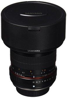Samyang F1110607101 - Objetivo fotográfico DSLR para Olympus 4/3 (distancia focal fija 14mm, apertura f/2.8-22 ED AS IF UMC), negro