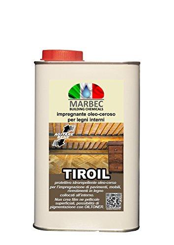 Marbec - TIROIL 1LT | Impregnante oleo-ceroso per pavimenti e arredi in legno interni