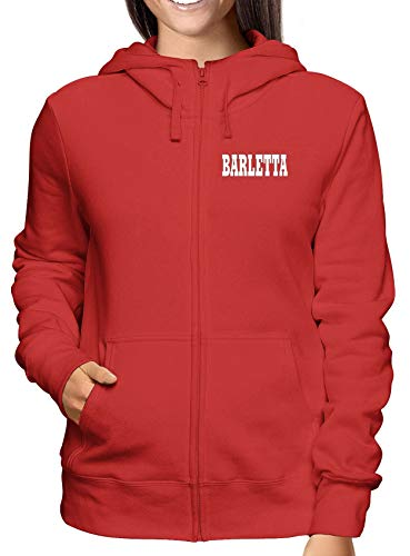 T-Shirtshock Felpa Cappuccio e Zip Donna Rossa WC0934 Barletta Italia