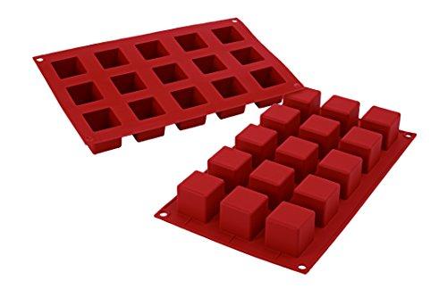 Silikomart-Silikonform-mit-15-Wrfeln-klein-Terrakottafarben