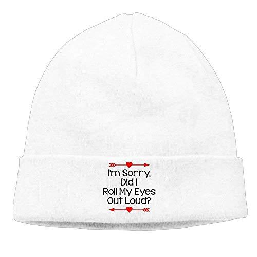 YOWAKi Fashion New cap Hat Unisex Beanies Caps Did I Roll My Eyes out Loud Skull Hats Soft Hedging...