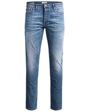 Jack-Jones-Herren-Slim-Fit-Jeans-Denim-Used-Look-36W-36L-AM078