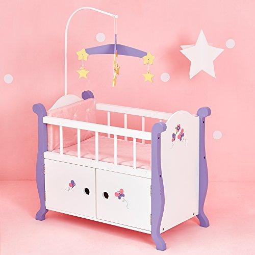 Culla ContenitoreGiocoLegno per Bambole Bebè da 45 cm OliviasWorldTD-0206A