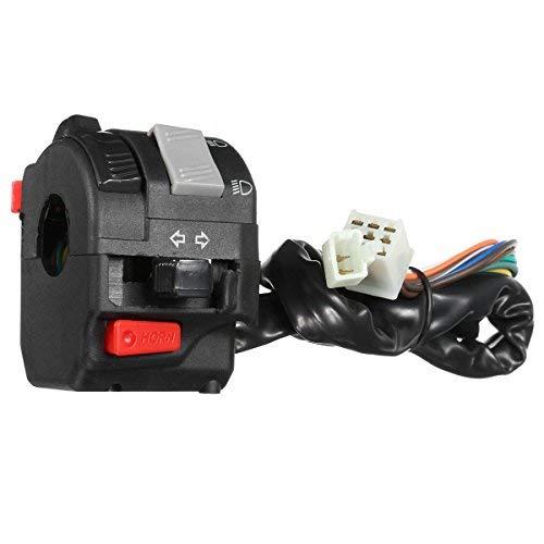 Alamor 12V Motorrad Scheinwerfer Start Schalter Horn Blinker Für 7/20 mm 22Mm Lenker Linke Seite