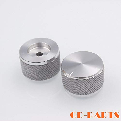 2PCS 35 * 22mm CNC Machined Solid Aluminum Volume Control Knob for DAC Turntable CD Player Tube Amplifier HiFi Car Audio Speaker