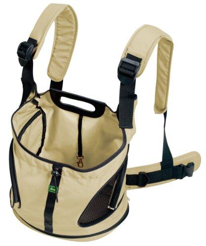 HUNTER Outdoor Kangaroo Tasche, Hundetragetasche, Bauchtasche, kleine Hunde, Welpen 20 x 35 x 30 cm, beige