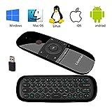Télécommande, Linstar Air Mouse sans fil 2,4 GHz, Mouvement Smart TV Remote Controller Android TV Box Mini clavier pour Android TV Box, PC, ordinateurs portables, projecteurs et Smart TV