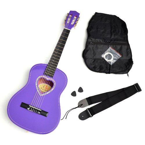 Guitarra infantil de 1/2, incluye funda, púas, cuerdas y correa