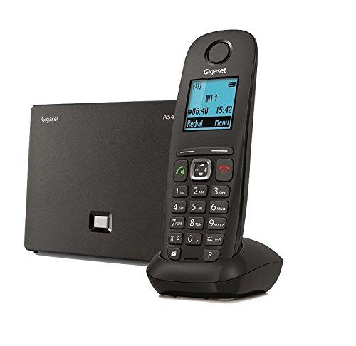 Gigaset A 540 IP Telefono Cordless per Chiamate VoIP e Telefonia Fissa, Nero [Italia]