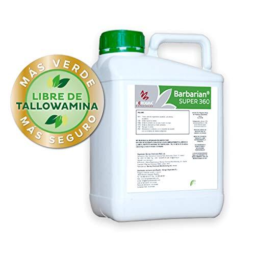 SUPER 360 Herbicida 5 litros Barbariani Maximo Control de Las Malas Hierbas Barbarian Herbicida Trata hasta 1666 m2 / m 1Lt Sin Lesion Superficial: Total absorcion 100% eficacia