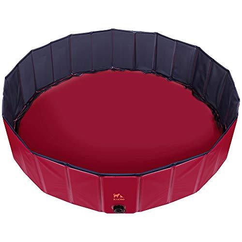 Zacro Hundepool 120 * 30cm hundepool für große Hunde mit Ablassventil und einen Durchmesser