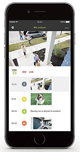 4110LxPeCrL [Bon Plan Fibaro] Caméra de Surveillance Extérieure Intelligente avec éclairage intégré - Netatmo Presence