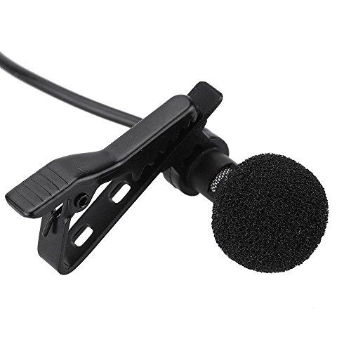 Ju?›rez 3.5mm Mini Lavalier Lapel Microphone with Omnidirectional Condenser Clip (Black) - JRZ500