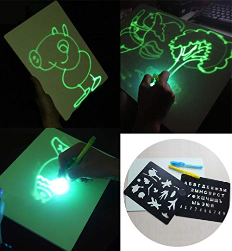 MARFUNY Lavagna Luminosa Fluorescente, Light Up Drawing Fun Disegnare Toy Draw Sketchpad Board, Big...