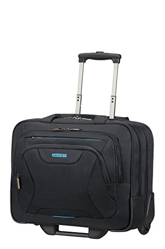 AMERICAN TOURISTER AT Work - Rolling Tote 15.6' Borsa pilota, 44 cm, 22 liters, Nero (Black)