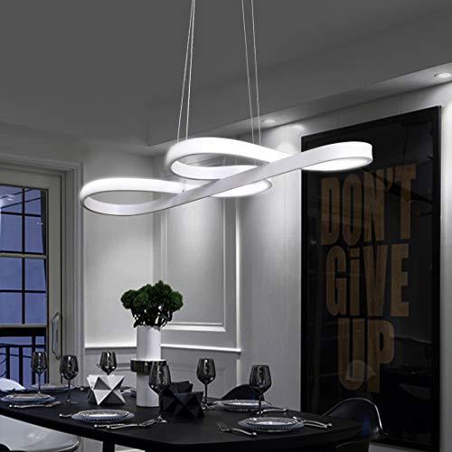 ZMH LED Pendelleuchte esstisch Pendelleuchte Weiß Hängeleuchte 42W Dimmbar mit Fernbedienung Hängelampe Arbeitszimmer, Wohnzimmer, Küche, Pendellampe Kronleuchte (Weiß) [Patentinhaber]