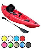 Bluefin Single or Tandem Sit On Top Fishing Kayak. With Rod Holders, Storage Hatches, Padded Seat & Paddle