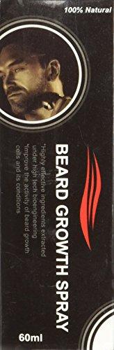 Beard Growth Spray - Favorisce La Crescità - 100% Vegetale - Per Una Barba Piu Folta E Forte!