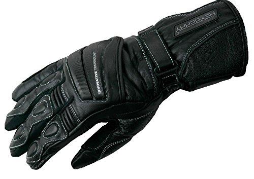Heyberry Leder Motorrad Handschuhe Motorradhandschuhe schwarz 1