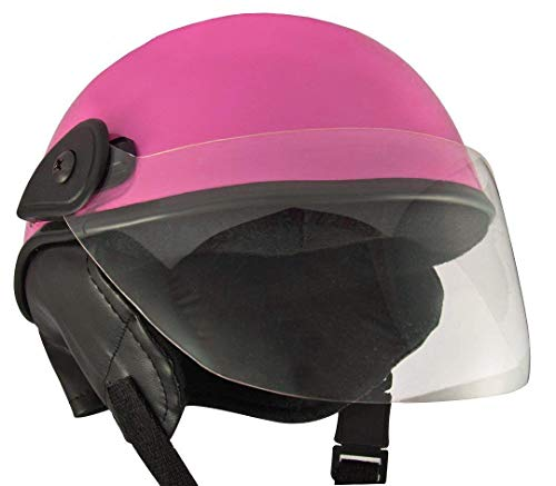 Anokhe Collections Junior Safety PC Shell Helmets for Kids, 3-12 Years (Small, Pink Glossy)