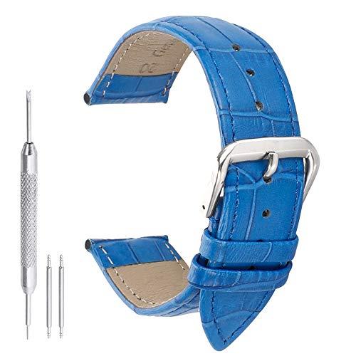 16mm blu lusso autentico cinturini in pelle di vitello delle donne eleganti cinghie di squame rettangolari