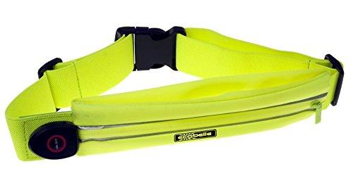 ECOBELLE Marsupio/Cintura LED da corsa ricaricabile con USB. Impermeabile e Regolabile + Cavo USB...