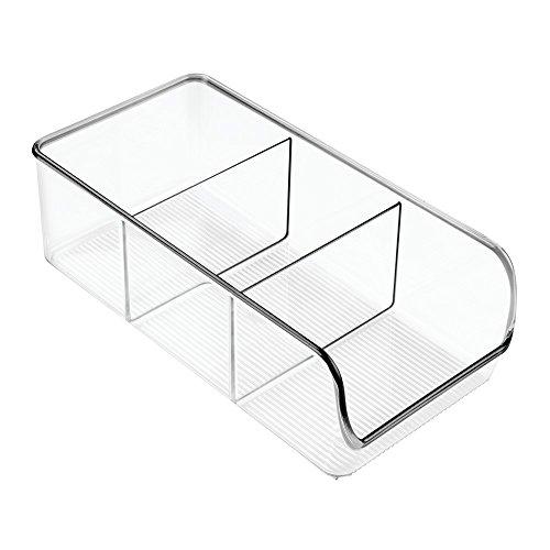 iDesign Organizer cucina con manico, Contenitore cucina in plastica con 3 scomparti di medie misure,...