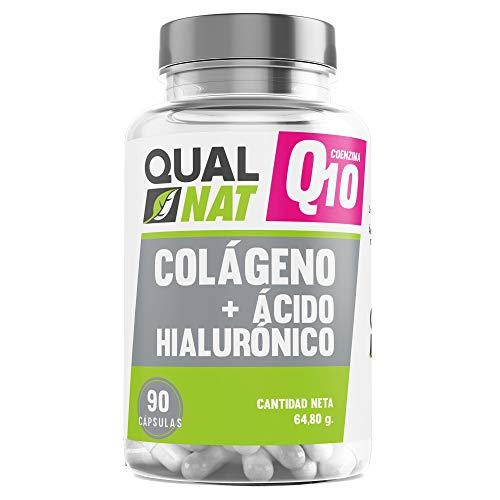 Collagene con acido ialuronico e coenzima Q10 per una pelle giovane e sana - Collagene e acido ialuronico per la cura delle articolazioni - (COLAGENO Q10-90 CAP)