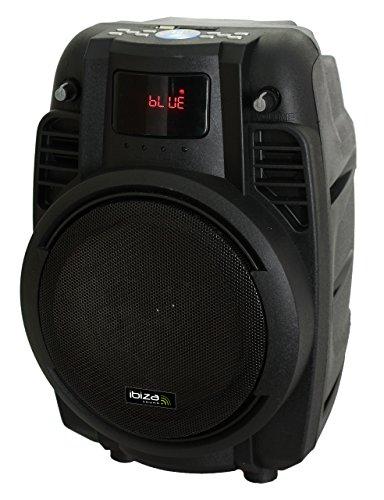 Ibiza Sound POWER6-PORT-B - Megafonía portátil con rejilla, color negro