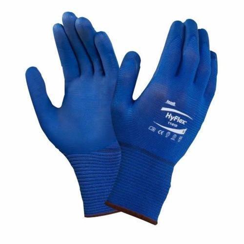 Ansell HyFlex 11-818 Gants pour usages Multiples, Protection mécanique, Taille 9, Bleu Foncé (Pack...