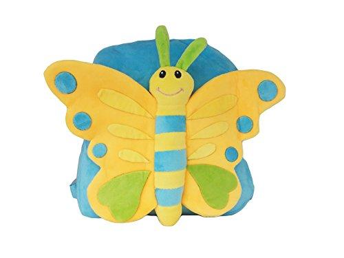 """'La Loria K 22a mochila infantil de peluche""""butty la mariposa de jardín infantil Mochila, Amarillo"""