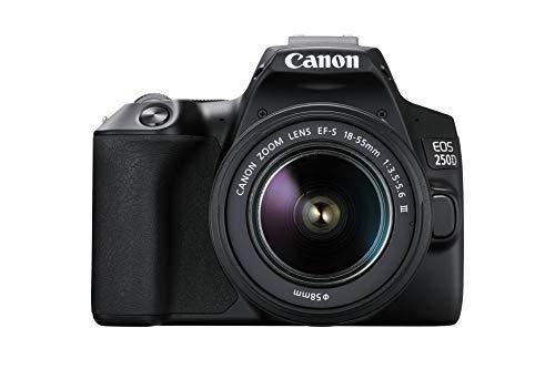Canon EOS 250D (24,1 Megapixel, display orientabile da 7,7 cm (3 pollici), sensore APS-C, 4K, Full...