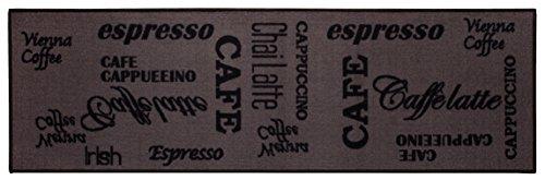 misento Andiamo Tappeto da Cucina Espresso Lavabile Tappeto Cucina Oeko Tex Approvato, Marrone, 57 x...