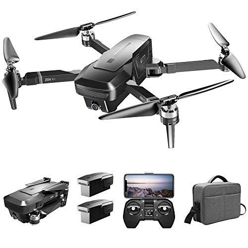Goolsky Drone Senza Spazzola VISUO Zen K1 4K GPS con Doppia Fotocamera 120 ° grandangolo 5G WiFi Filtro di Bellezza Figura del Flusso optiacale Segui RC Quadcopter