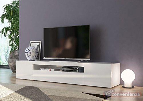 Web Convenienza Frozen Mobile Porta TV 3 Ante Living Bianco Laccato Lucido