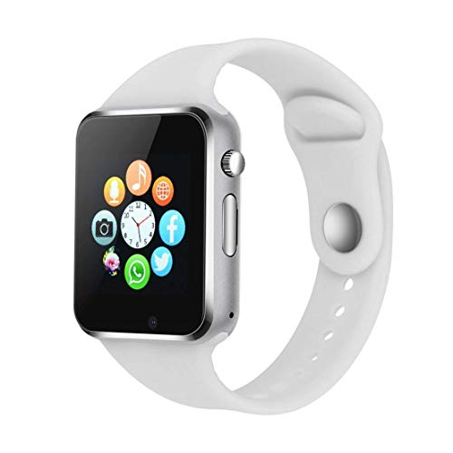 Smartwatch Android iOS Smart Watch Telefono Touch con SIM Slot Notifiche per iPhone Samsung Hawei...